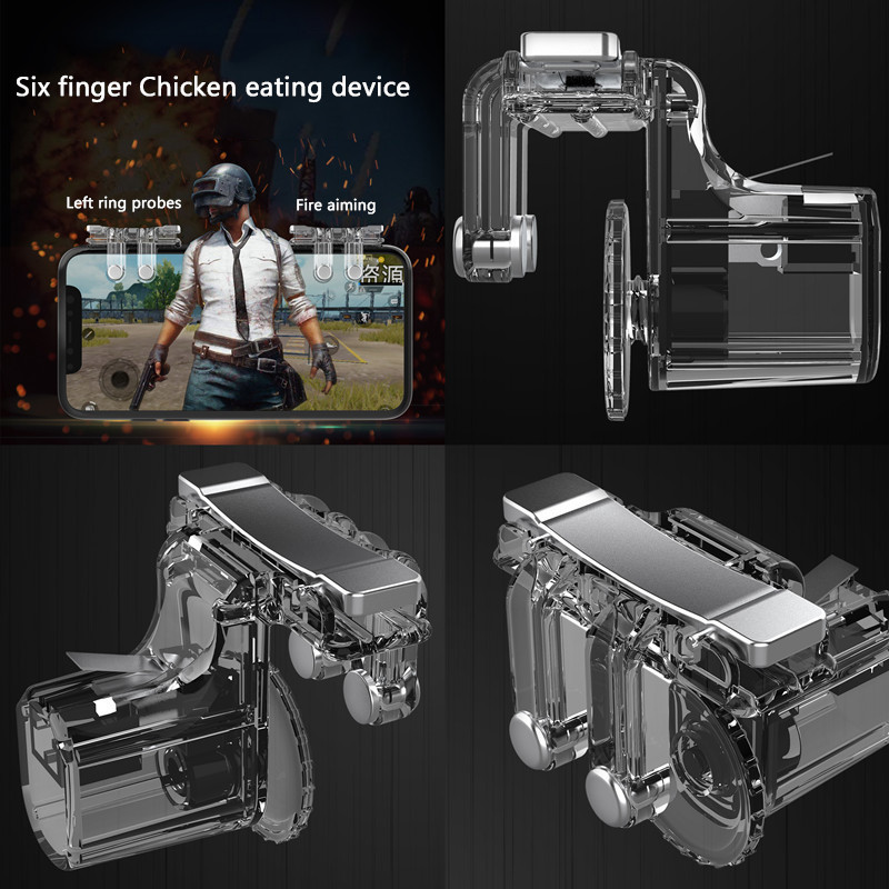 2PCS PUBG Gaming Trigger Fire Button Mobile Controller L1R1 Shooter Mobile Joysticks Game Gamepad Controller For Iphone Xiaomi