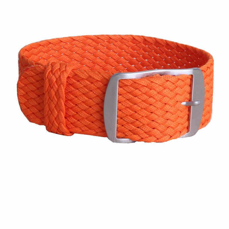 """מר NENG מותג 1 יחידות/רצועת השעון ניילון אופנה סיטונאי 14 מ""""מ 16 מ""""מ 18 מ""""מ ארוג עבור רצועות Perlon צבעים כתומים 20 מ""""מ 22 מ""""מ"""