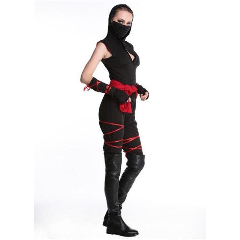 Halloween Masked Warrior Costume Halloween Costumes Black Ninja Costume Stage Couples Men and Women