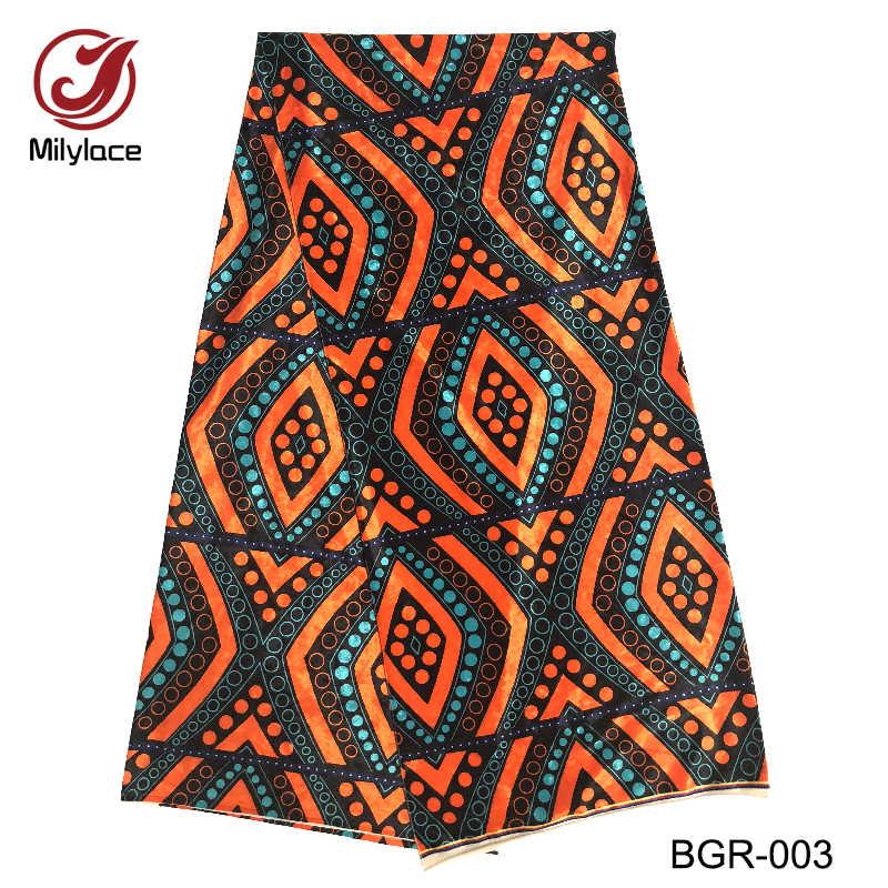 Высококачественное Африканское бархатное кружево ткань цифровой печатный дизайн 5 ярдов в партии нигерийская Бархатная ткань с кружевом для платья BGR-012