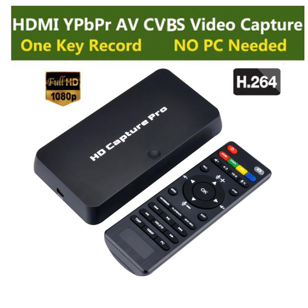 HD Game Video Capture 1080P HDMI YPBPR Playback Recorder For XBOX One 360 PS3 PS4 with