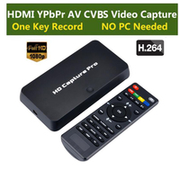 HD Game Video Capture 1080P HDMI YPBPR Playback Recorder For XBOX One/360 PS3 /PS4 with One Click No PC Enquired No Any Set up