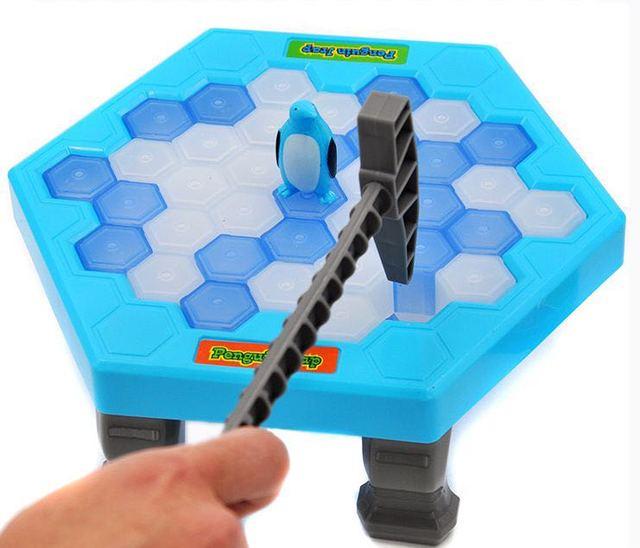 juego de pingüinos y picar hielo para niños