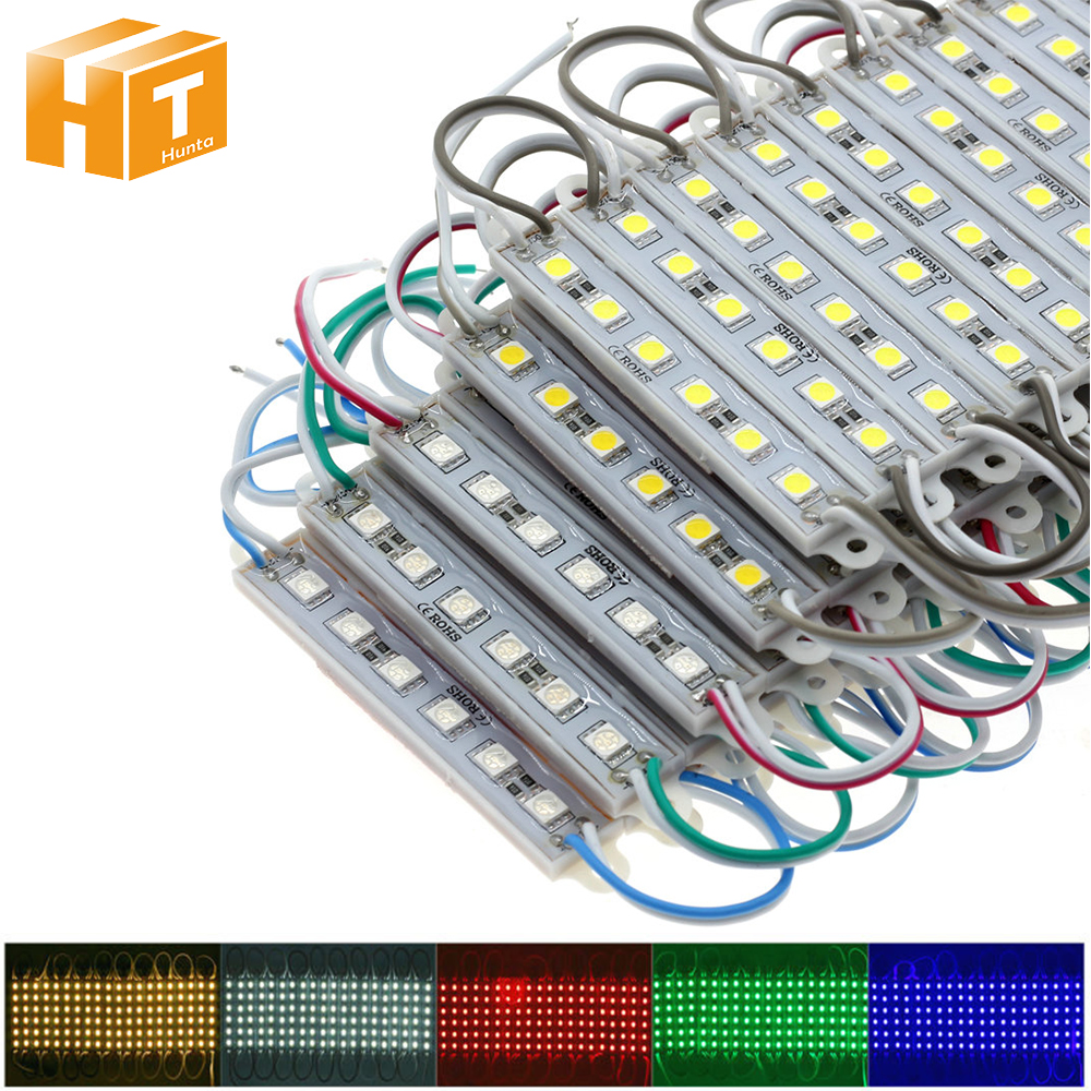LED Module 5050 6LEDs DC12V Waterproof For Outdoor Advertising Luminous Signs Lightbox DIY LED Module String 20Pcs/Lot