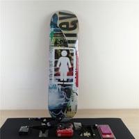 Skateboard Pro Complete Set Canadian Maple Deck Skate Board Trucks Skateboarding Wheels and Beearings&Accessories