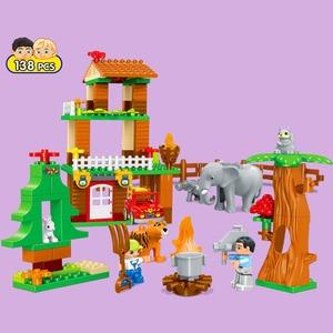 Image 4 - 3 セットデュプロビルディングブロックセットジャングル動物ブロック大型 Diy 啓発レンガ互換フィギュアおもちゃ