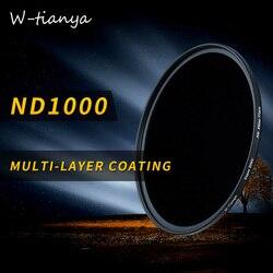 Wtianya Multi-revêtement nd1000 77 82mm 10. étape nd3.0 filtre 40.5 43 46 58 67 72mm verre Densité Neutre filtre faible changement de couleur