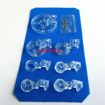 7 Pcs Free Motion Couching Echo Quilting Ruler Foot For Low Shank Sewing Machine