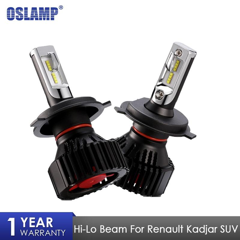 Oslamp H7 зэс чипов автомобилей светодиодный лампы для Renault Kadjar внедорожник 60 Вт 8000LM 6500 К H7 светодиодный лампы фар авто лампы фары светодиодный