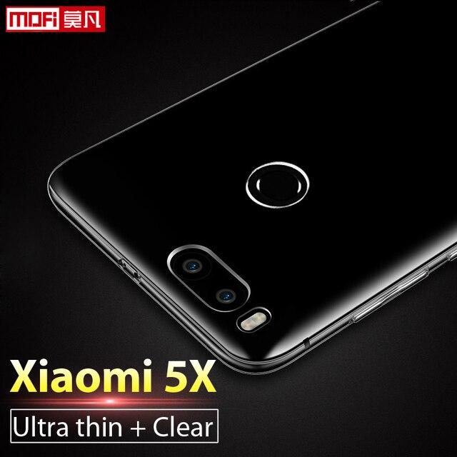 """Xiaomi Mi 5x Case Xiaomi Mi5x Case Cover Silicone Soft Ultra Thin Clear Back TPU Coque Mofi Transparent 5.5"""" Xiaomi Mi 5x Case"""