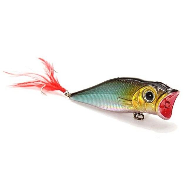 latest arrival 70mm/9g popper hard bait bass lifelike fishing lure, Hard Baits
