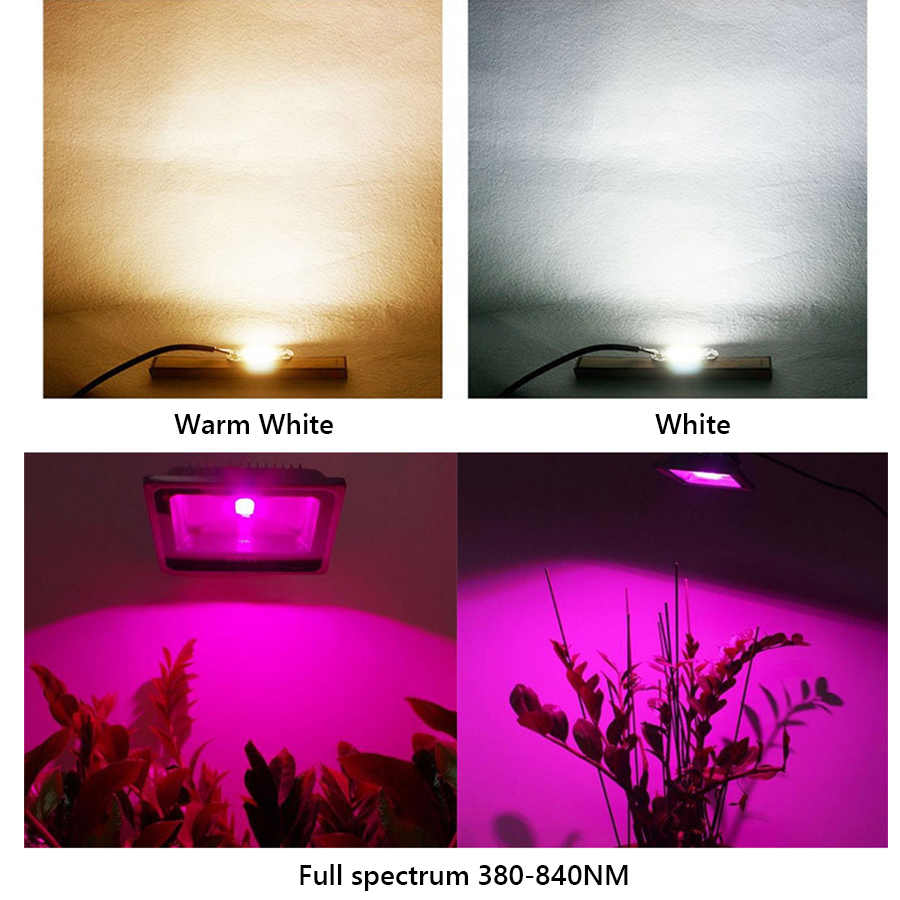 Spettro completo LED Coltiva La Luce Chip di 100 W 150 W-10 W 50 W per Interni Pianta Coltiva La Luce chip perline Lampada 220 V Diodo Fitolampy Phyto Lampada