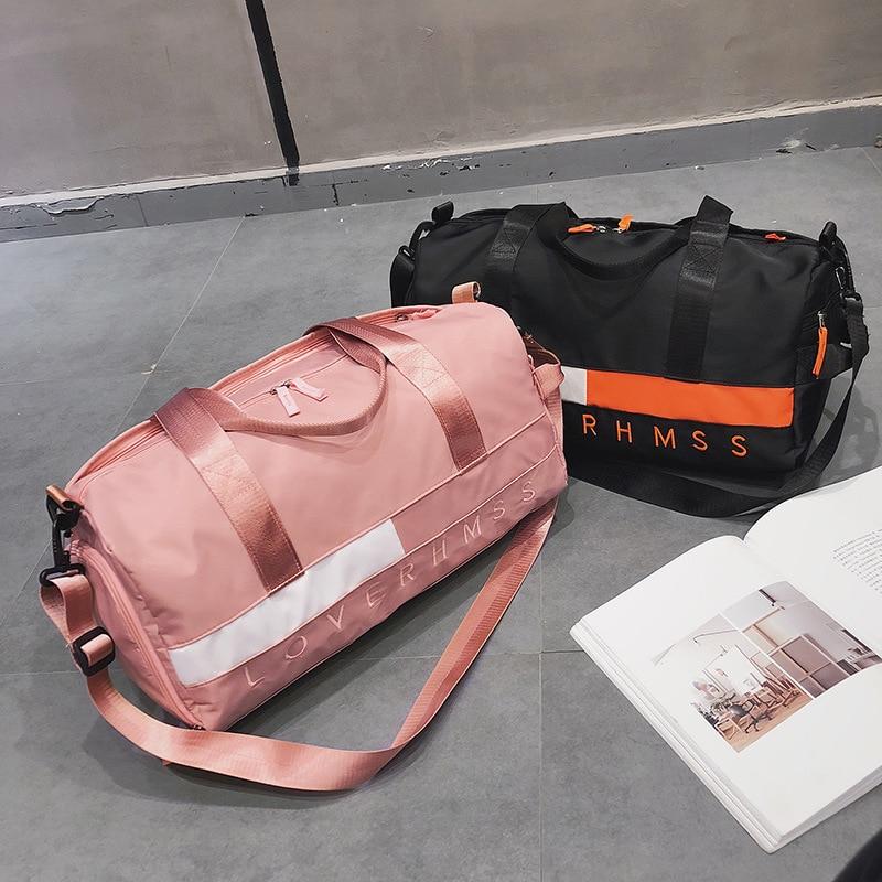 Handbag Tote Sack Gym-Bags Fitness Sport-Gymnastics Women Weekend Training Travel Letter