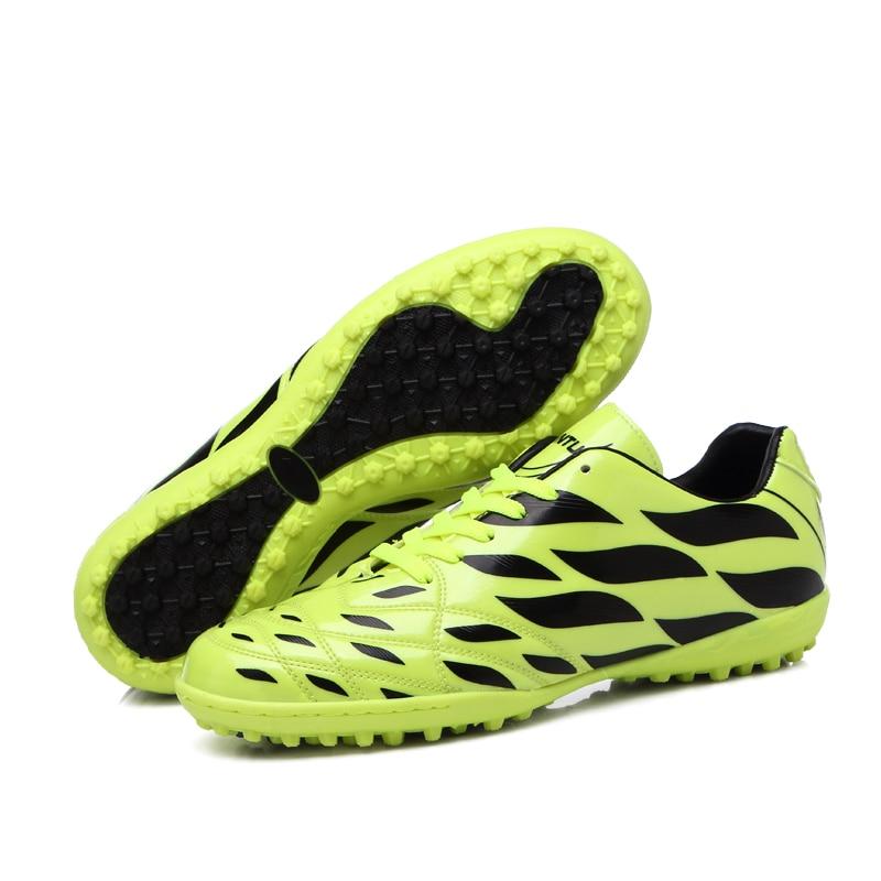цена на New Arrival Football Boots Men TF Soccer Shoes Children Indoor Kids Futsal Hard Wearing Cheap Cleats Wholesale