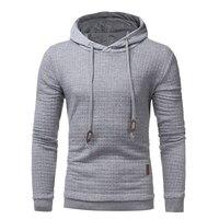 Men S Hoodies 2017 Brand Male Long Sleeve 3D Hoodies Casual Sweatshirt Slim Diamond Plaid Tracksuit