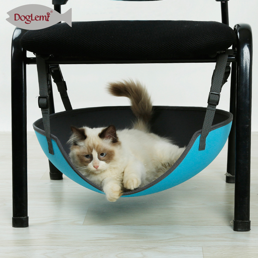 Enjoyable Us 44 7 35 Off Under Chair Pet Cat Hammock Chair Large Bed Warm Soft Hanging Bed House Cat Katten Shelf Sleeping Bed For Cats Cama Para Gato In Cat Customarchery Wood Chair Design Ideas Customarcherynet