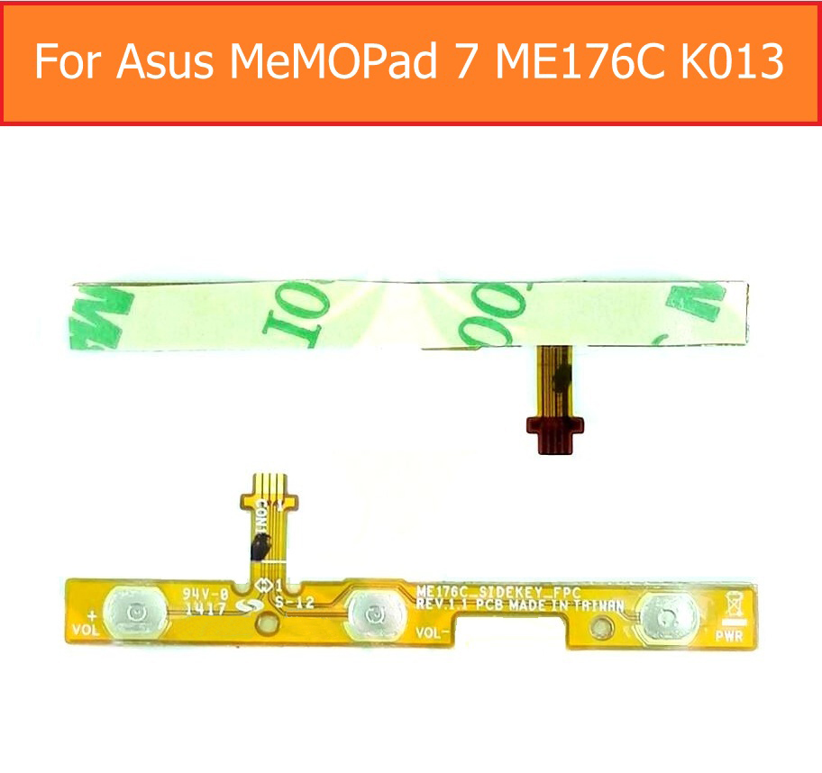 Up/low Volume Flex Cable For Asus Memo Pad 7 Me176c K013 Switch On/off Control Power Flex Cable Side Key Lock Screen Button Part Tablet Accessories