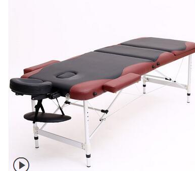 Купить с кэшбэком Aluminum alloy foot folding massage bed massage portable household physiotherapy bed needle moxibustion tattoo beauty bed.