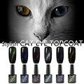 CANNI Magnetic Cat Eye Top Coat 6 Colors 7.3ml*1pc 61509 Magic Color Change Magnetic Finish Nail Gel Cat Eyes Gel Polish Topcoat