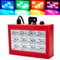 Mini Sound Control 12RGB LED Grille Strobe Light For Disco Party DJ Stage Lamp Home Entertainment Music Show Projector