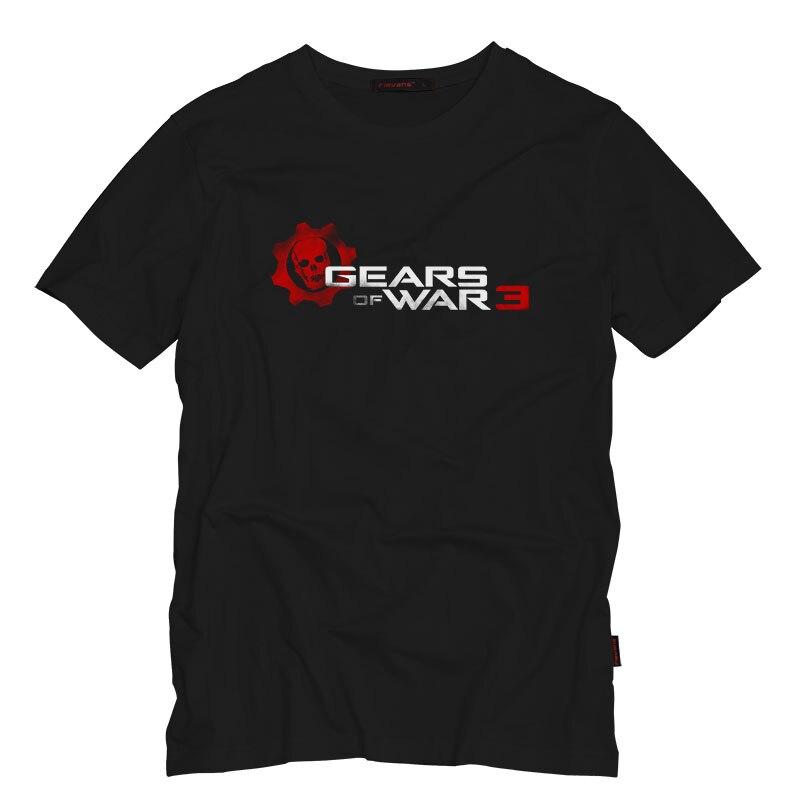 Gears of War Mens T Shirt Cool Summer Short Sleeve Game T-shirt Fashion Casual Cotton Hip Hop Clothing T-shirts Tee Tops