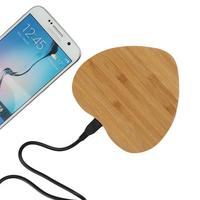 Bamboo Wooden Qi Wireless Charger Charging Pad For Samsung Galaxy S6 S6 Edge Plus S7 S7