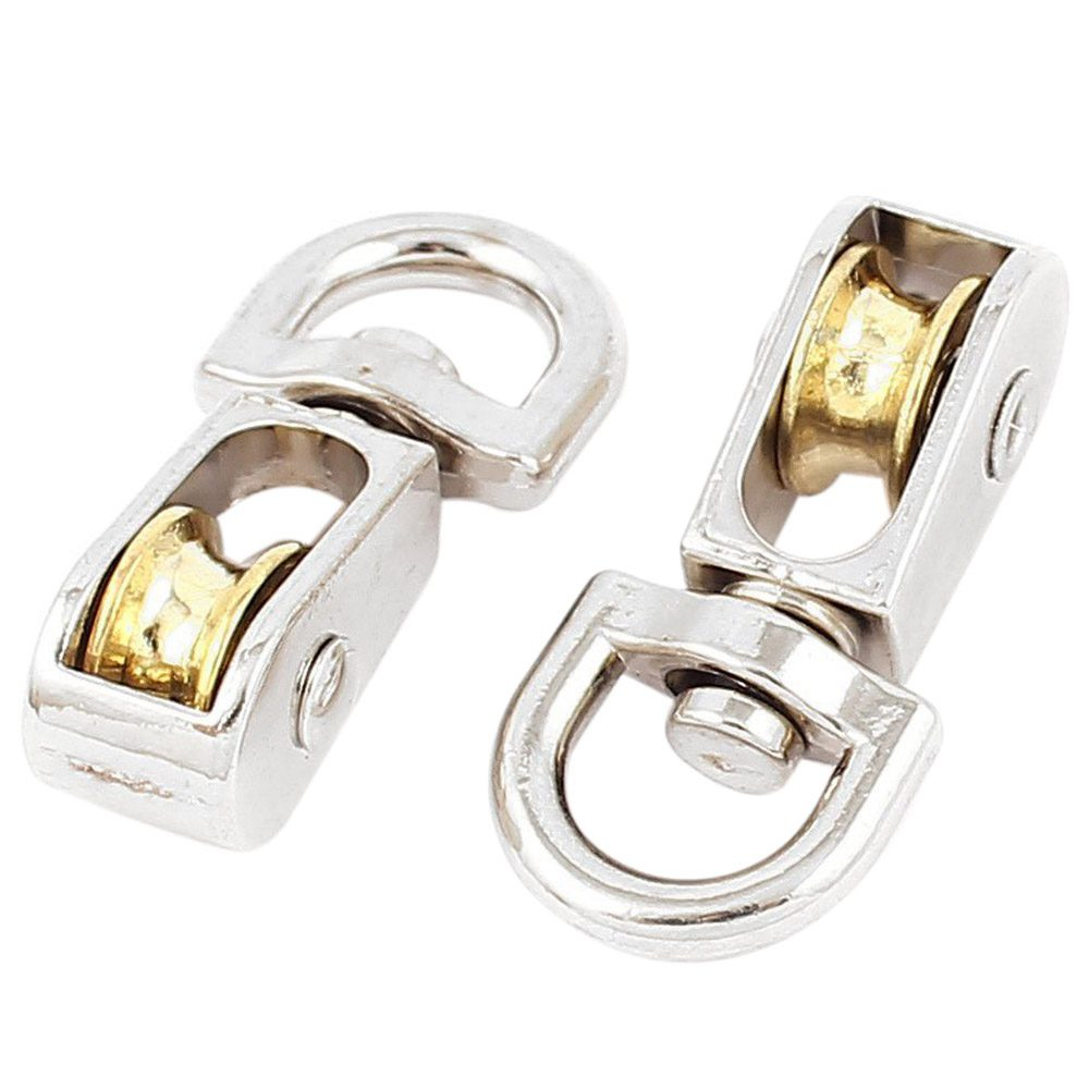 16mm Zinc Nickel Plated Single  Revolving Pulley Rope Size 4mm