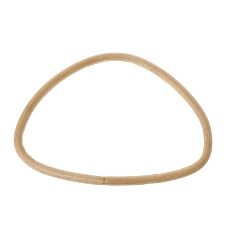 1 PC D Shape Bamboo Rattan Handle Coin Purse Frame Handmade Shoulder Bag Handbag Accessories
