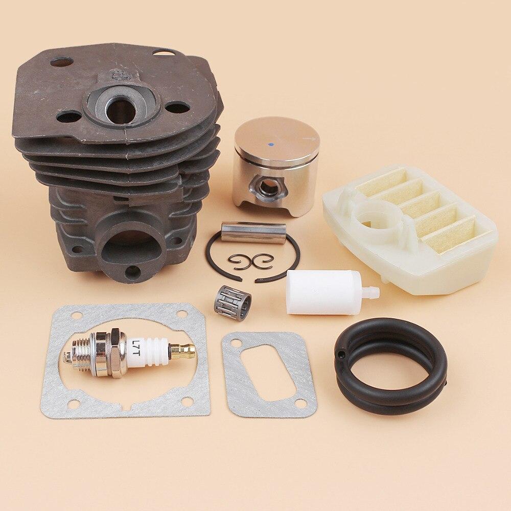 44mm Cylinder Piston Air Filter Gasket Fuel Hose Filter Kit For HUSQVARNA 353 350 346 XP 351 JONSERED 2149 2150 2152 2153 New цена