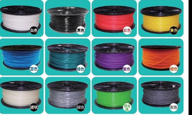 ФОТО High Quality 1kg 3D Printer Filaments plastic Rubber Consumables Material, ROHS certified ,1.75/3mm ABS / PLA Optional