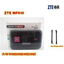 UNLOCKED ZTE MF910 150MBPS 4G LTE HOTSPOT MOBILE BROADBAND ROUTER +2pcs 4g antenna