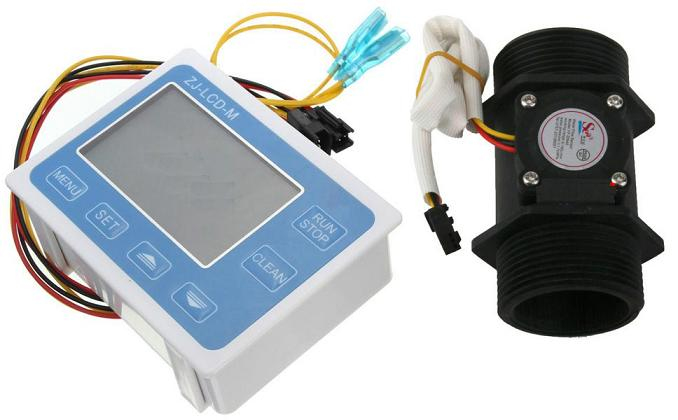 Electronic Water Flow Meter : Inch digital water flow meter measurement dn