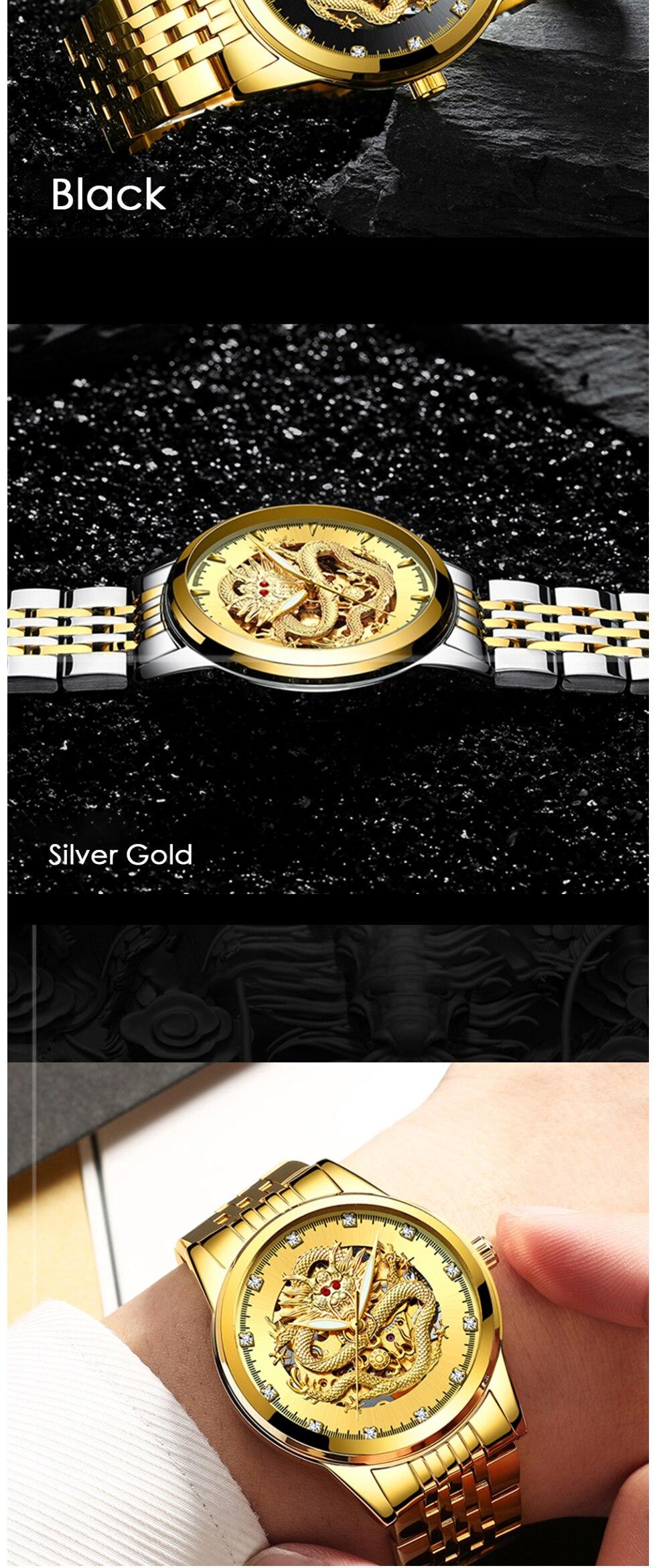 HTB1cCoWXoLrK1Rjy1zbq6AenFXaR TEVISE Men Mechanical Watch Luxurious Automatic Winding Watches Waterproof Skeleton Hollow Gold Dragon Clock Relogio Masculino