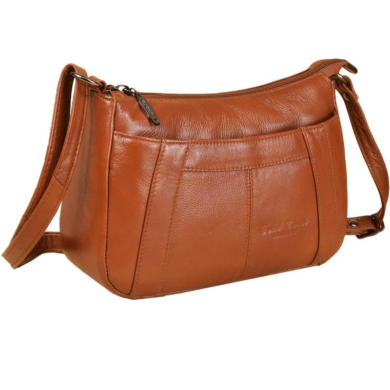 GOLD CORAL Genuine Leather Luxury Handbag Female Shoulder Crossbody Bags For Women Fashion Ladies Shopping purse Bags sac a main
