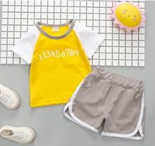 Spliced Boys Short-sleeved Suit 2019 Children's Clothing Summer New 1-3 Years Old Kids Clothes Shorts Two-piece Set SY-F182227 sweet years sy 6130l 24