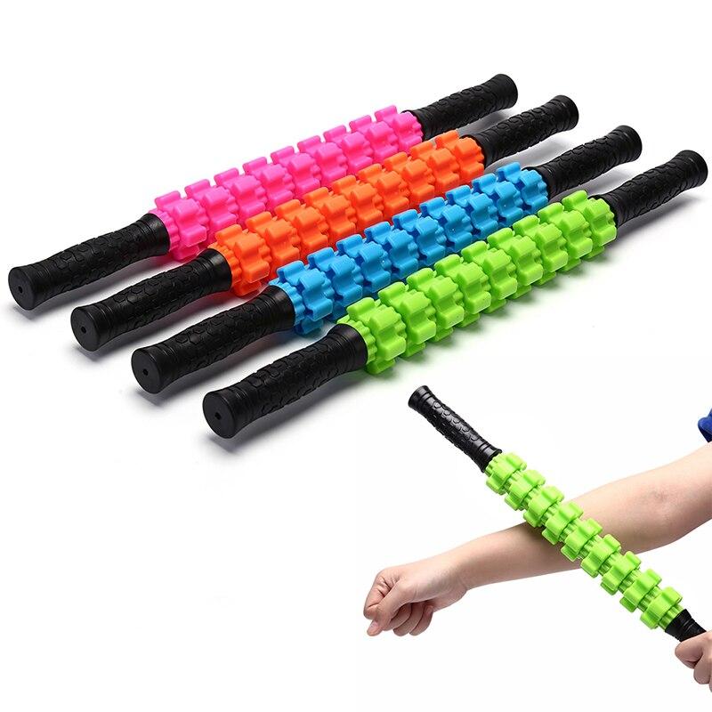 52x5 Cm Yoga Blok Fitnessapparatuur 9 Spiky Ponit Massage Roller Stokje Been Back Relax Foam Roller Spier Therapie Verlichten Physio