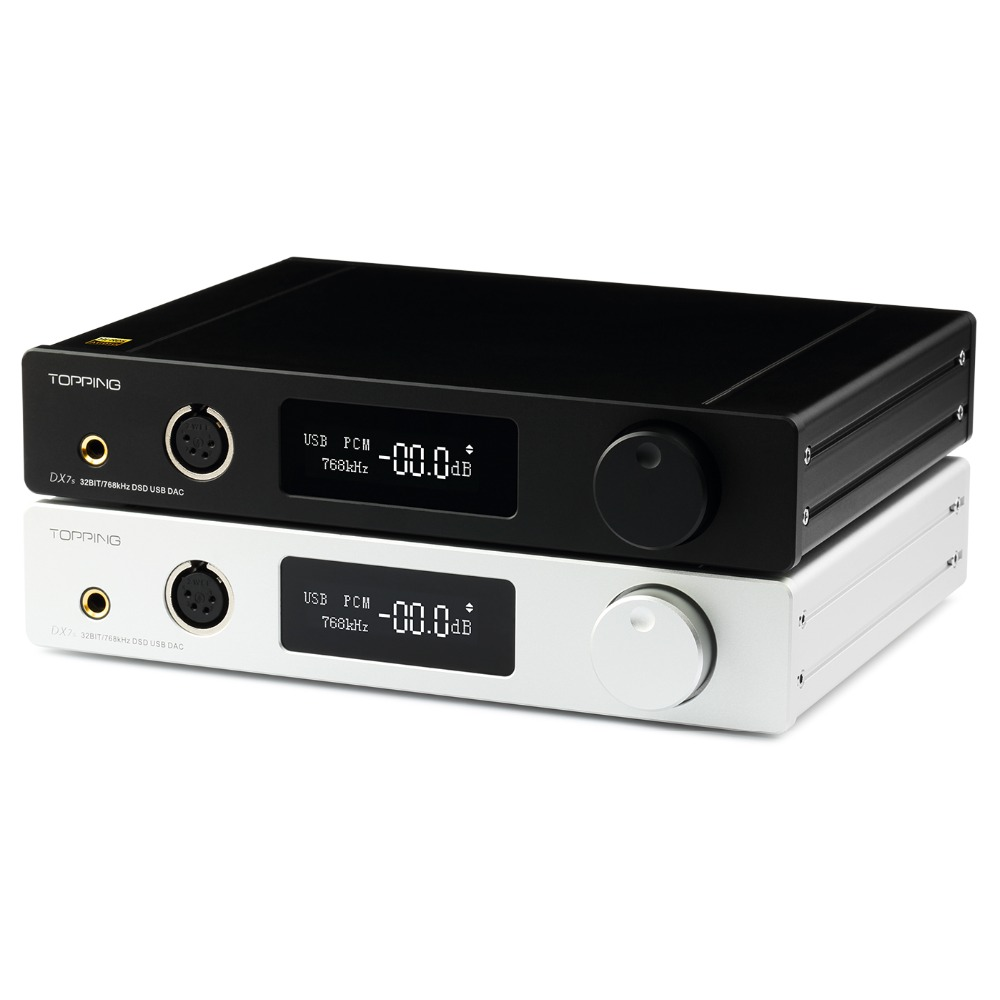 TOPPING DX7s 2 * ES9038Q2M 32Bit/768K DSD512 Full balanced USB DAC Headphone amplifier XMOS XU208 OPA1612 USB OPT AES COAX input цена