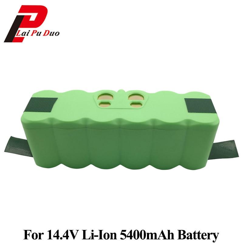 5400 mah 14.4 v Li-ion Batterie pour iRobot Roomba 500 600 700 800 980 Série 510 530 550 560 561 585 620 630 650 760 770 780 870