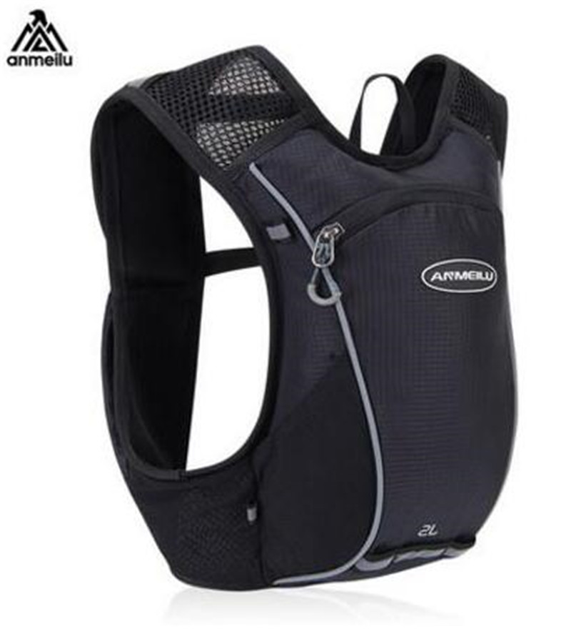 ANMEILU Men Women 2L Running Hydration Vest Pack Backpack Outdoor Sport Lightweight Marathon Running Race Cycling Bag