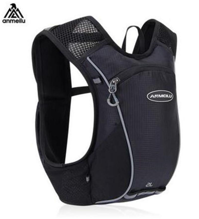 ANMEILU Men Women 2L Running Hydration Vest Pack Backpack Outdoor Sport Lightweight Marathon Running Race Cycling Bag