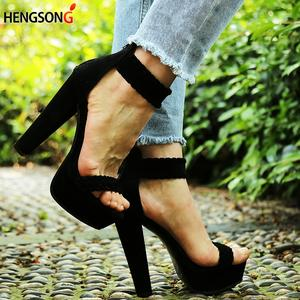 c7f2fa0ef8ef8 hengsong 2018 Sexy Women Pumps Shoes High Heel Peep Toe
