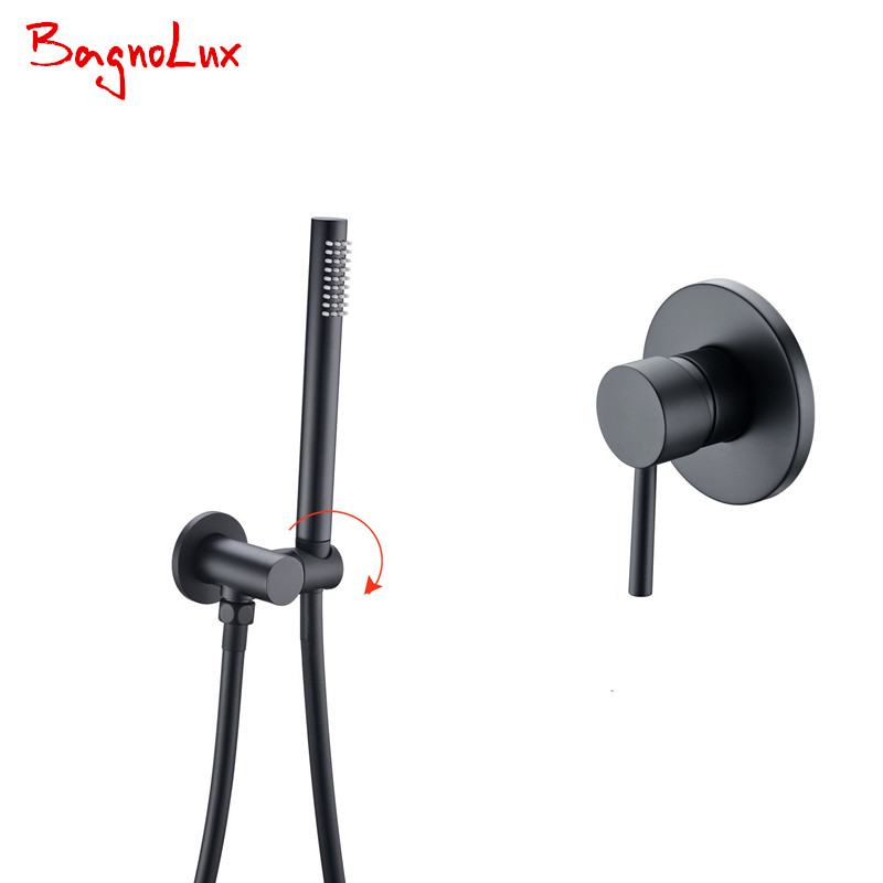Bagnolux 5 Yr Warranty Solid Brass Matte Black Bathroom Handheld Shower Head With Hose And Bracket Holder With Shower Valve Kit fragile warranty sticker shall be null and void the warranty and black and red round 0 25 cm vulnerable if mobile