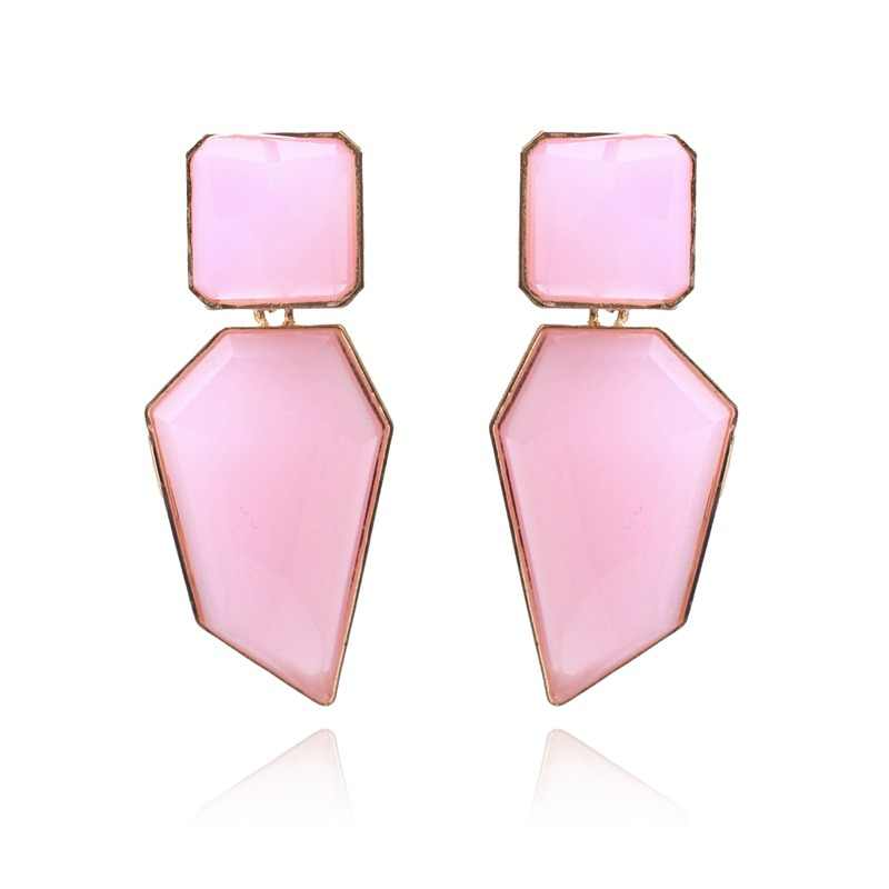 Ztech Fashion Orange Pink Resin Tassel Drop Earrings For Women Girls Za Wedding Jewelry 32 Designs Dangle Statement Earrings