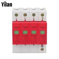 SPD 40-80KA 4 P parafudr koruma cihazı elektrik evi dalgalanma koruyucu yıldırımdan korunma B ~ 385 V AC
