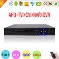 Blu-ray de Metal Exterior DVR 1080N 8 Channel 8CH Hi3520D Chip Híbrido Coaxial 5 em 1 NVR IP CVI TVI AHD DVR Livre grátis