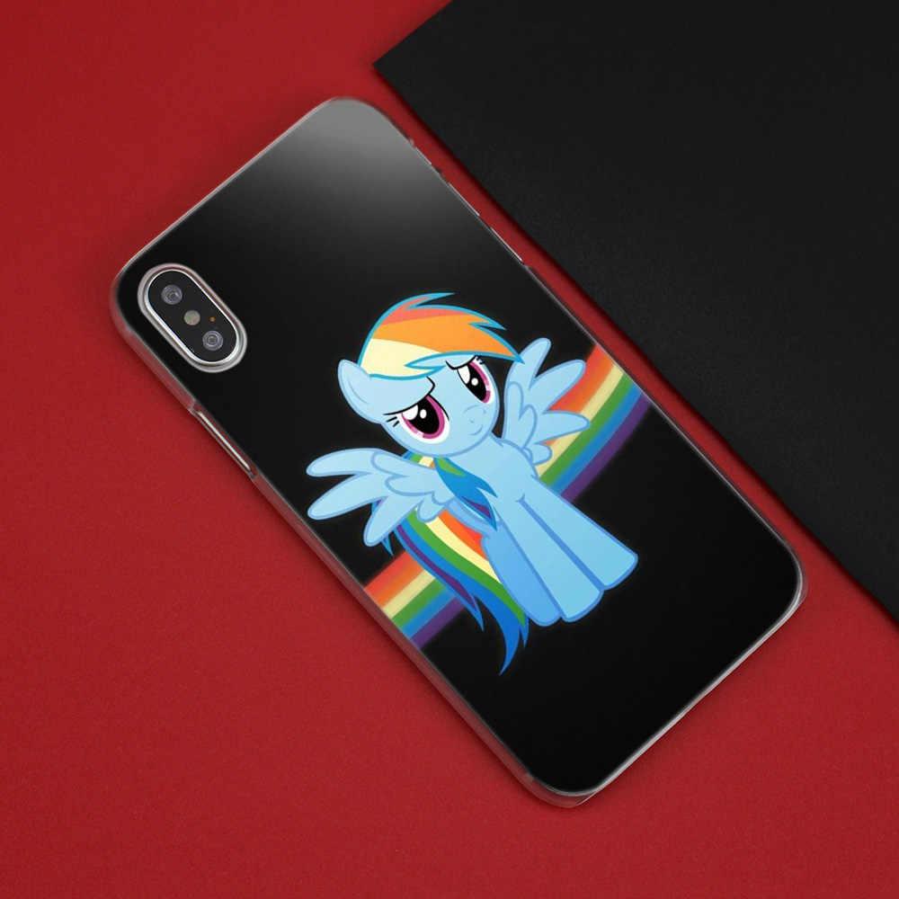 Милый мультфильм мой маленький пони Жесткий ПК чехол для телефона прозрачный для iPhone XS Max XR 7 8 6 6s Plus X 5 5S SE 5C 4 4s Fundas