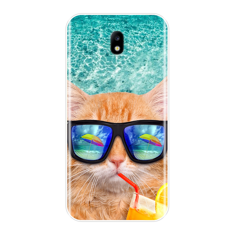 Phone Case For Samsung Galaxy J3 J4 J5 J6 J7 2016 2017 Soft Silicone New Cute Painted Back Cover For Samsung J2 J5 J7 Prime Case in Fitted Cases from Cellphones Telecommunications