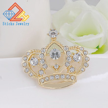 White fashion brooch crown inlaid jewelry wholesale factory direct free shipping