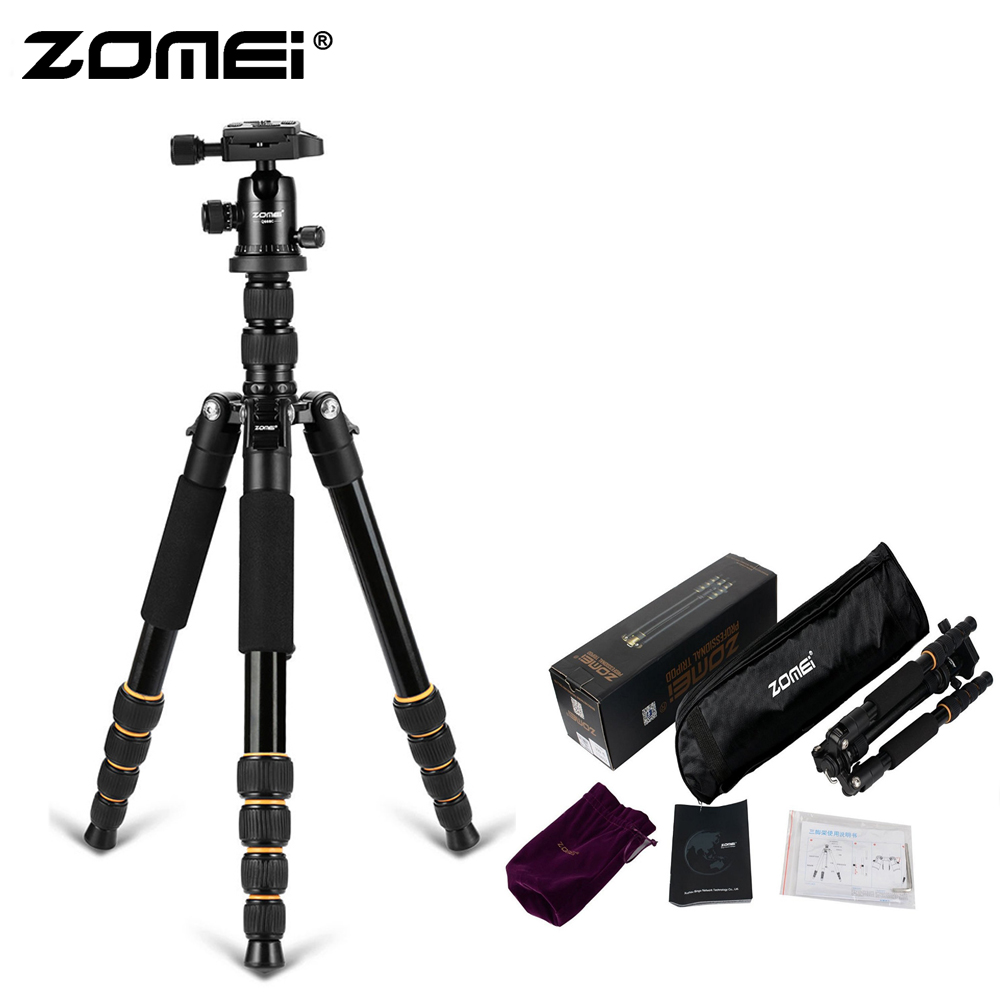 ZoMei Q666 Original Compact Aluminum Tripod Monopod Portable Travel Camera Stand + Ball Head For SLR DSLR Digital Camera Phone