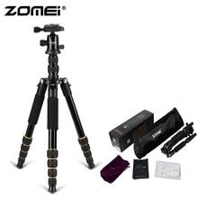 ZoMei Q666 оригинальный компактный алюминиевый штатив монопод Портативный штатив для путешествий + шаровая Головка для SLR DSLR цифровой камеры телефона